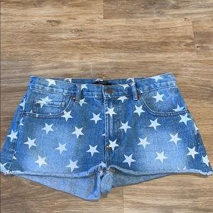 Forever 21 star denim shorts
